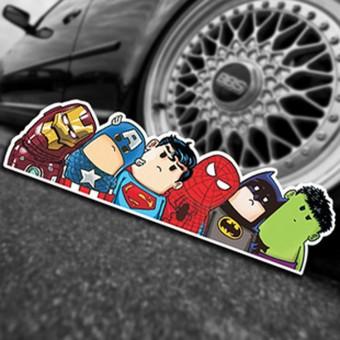 Наклейка Смешные мультяшные Мстители