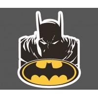 Наклейка мрачный Бэтмен с логотипом летучей мыши