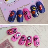 Супергеройские наклейки на ногти