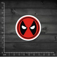 Наклейка с логотипом Deadpool