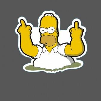 Наклейка с Гомером