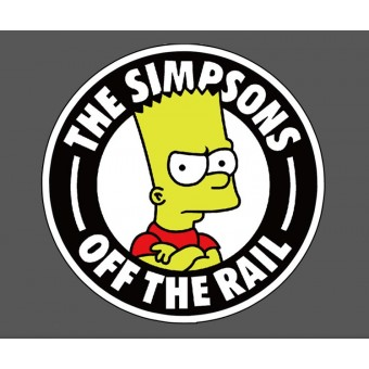 Наклейка The Simpsons Off The Rail