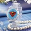 Прозрачные часы для детей с логотипом Superman
