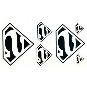 Наклейка с логотипом Супермена на тело