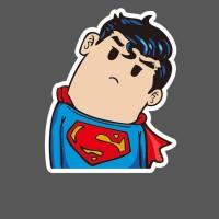 Наклейка со смешным Суперменом
