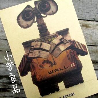 Ретро плакат с грустным Валли, 30 х 42 см
